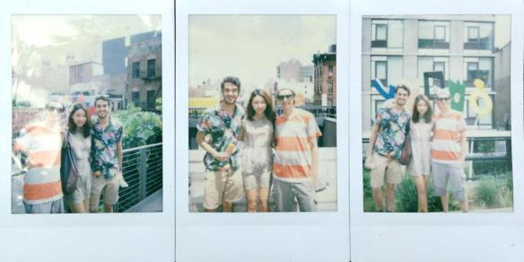 Polaroids on the High Line.