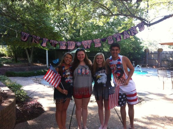 Some of my best friends and me at my annual America themed party back in Little Rock.