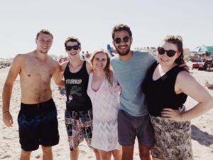 The crew on Ventnor Beach