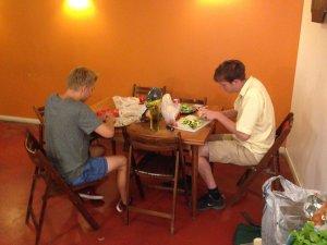 Team Effort for Dinner