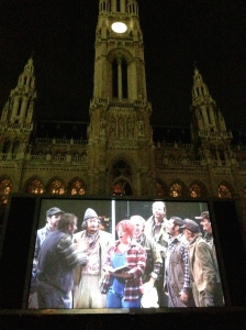 Film Festival at the Rathaus - Puccini's La Fanciulla del West was playing (obviously I had to look that up).
