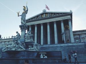 The Austrian Parliament Building.