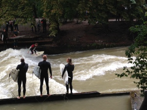 Surfing Wave in the English Gardens