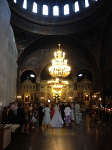 Stumbled across a wedding in one of Sofia's churches!