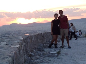 Watching the sun set from the Acropolis