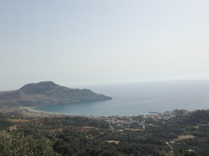 The town of Plakias from above