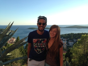 Me and Shaunagh in Hvar
