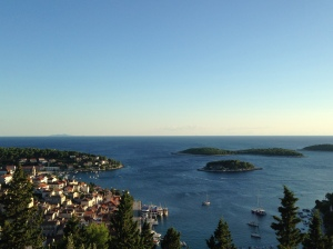 Overlooking the island of Hvar