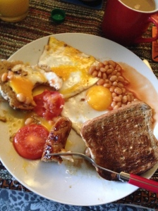 I cooked a full English for the house