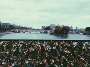 "Paris's famous ""Love Lock"" Bridge"