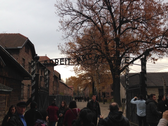 "Entrance to Auschwitz, translated as ""Work makes you free"""