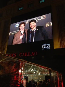 Sam Claflin at the Hunger Games premiere in Madrid