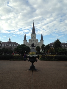 The St. Louis Cathedral next to Jackson Square